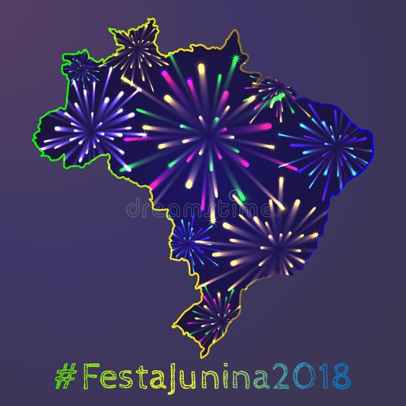 Αφίσα junina Festa ελεύθερη απεικόνιση δικαιώματος