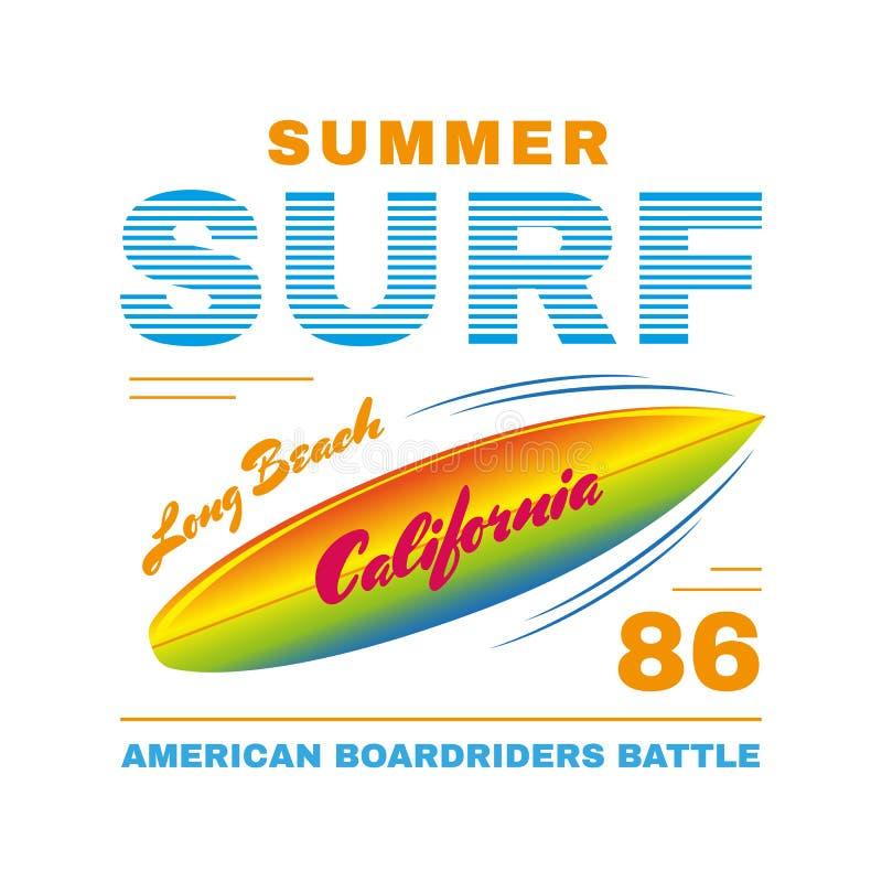 Αφίσα SurfIing απεικόνιση αποθεμάτων