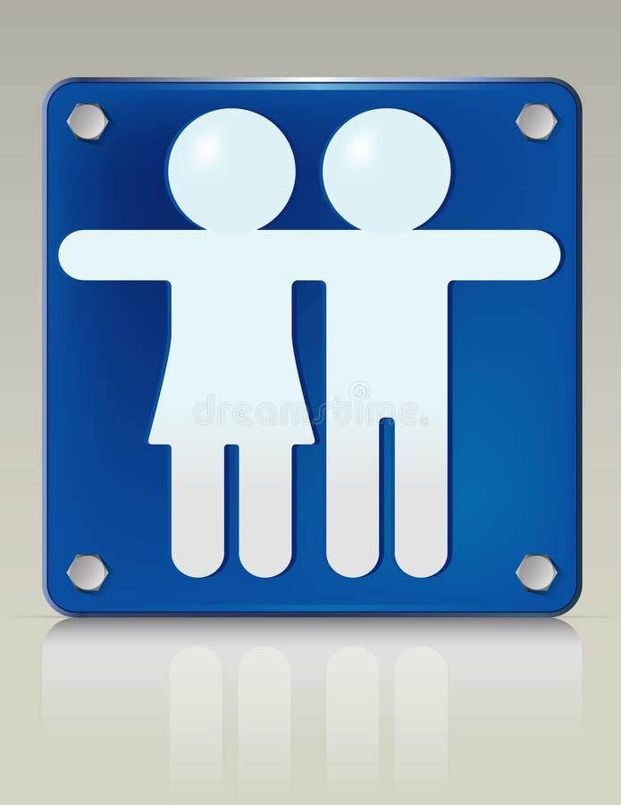 αφίσσα για άνδρες και γι&alph ελεύθερη απεικόνιση δικαιώματος