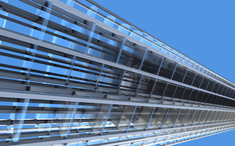 Download αφαίρεση αρχιτεκτονική απεικόνιση αποθεμάτων. εικονογραφία από γυαλί - 2228997