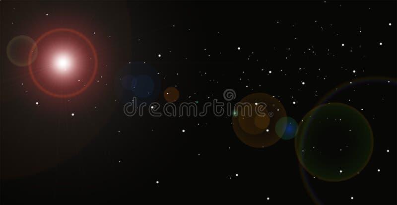 Αφαίρεση αστεριών διανυσματική απεικόνιση