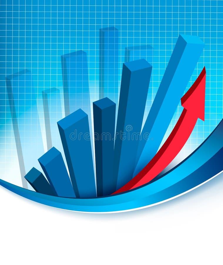 αφαιρέστε την επιχειρησιακή οικονομική γραφική παράσταση ανασκόπησης διανυσματική απεικόνιση