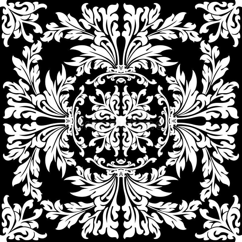 αφαιρέστε το floral πρότυπο απεικόνιση αποθεμάτων