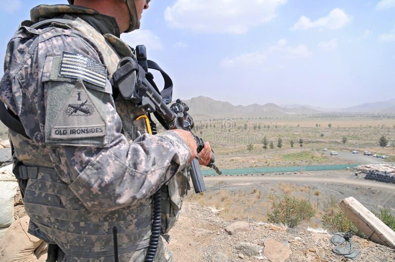 αφγανικά σύνορα 6 που ελέγ& στοκ φωτογραφία
