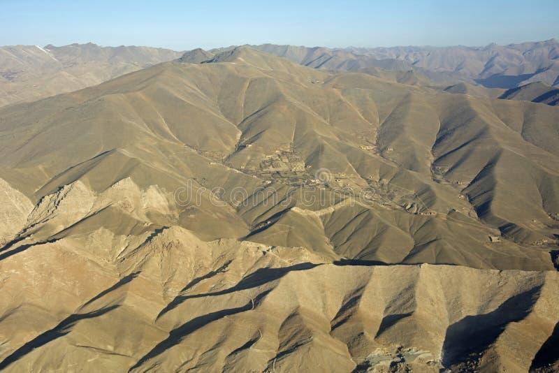 Αφγανικό ορεινό χωριό στοκ εικόνες