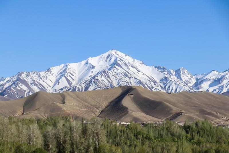 Αφγανιστάν από τον αέρα στοκ εικόνα