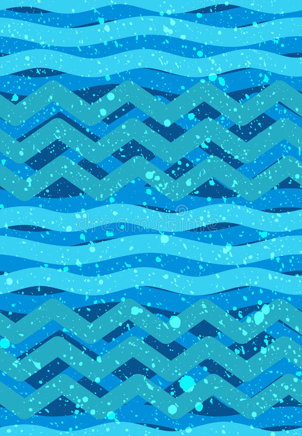 Αφηρημένα άνευ ραφής σχέδια κυμάτων - ναυτικό θέμα θάλασσας ελεύθερη απεικόνιση δικαιώματος