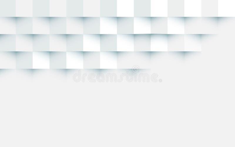 Αφηρημένα άσπρα τετράγωνα που επαναλαμβάνουν το υπόβαθρο διανυσματική απεικόνιση