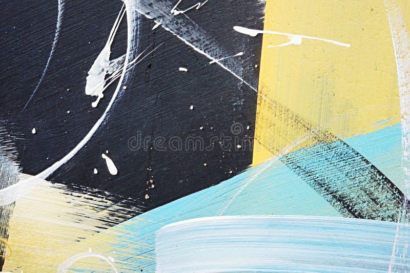 Αφηρημένα έργα ζωγραφικής γκράφιτι στο συμπαγή τοίχο Σύσταση υποβάθρου στοκ φωτογραφία με δικαίωμα ελεύθερης χρήσης