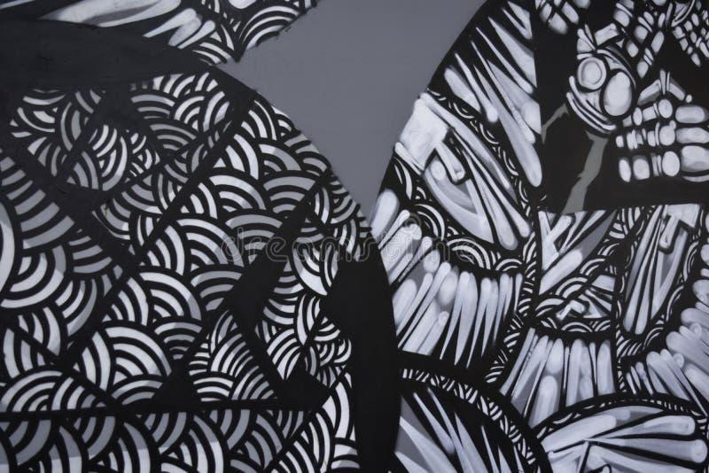 Αφηρημένα έργα ζωγραφικής γκράφιτι στο υπόβαθρο συμπαγών τοίχων στοκ εικόνα με δικαίωμα ελεύθερης χρήσης