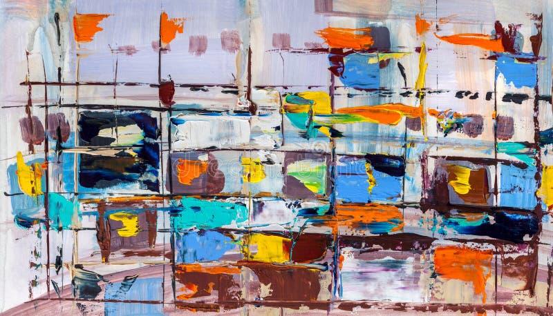 αφηρημένα έργα ζωγραφικής Συρμένη χέρι ελαιογραφία Σύσταση χρώματος διανυσματική απεικόνιση