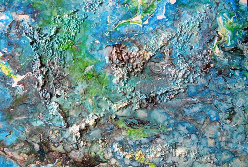 Αφηρημένα ακρυλικά νησιά φαντασίας ζωγραφικής στοκ φωτογραφίες