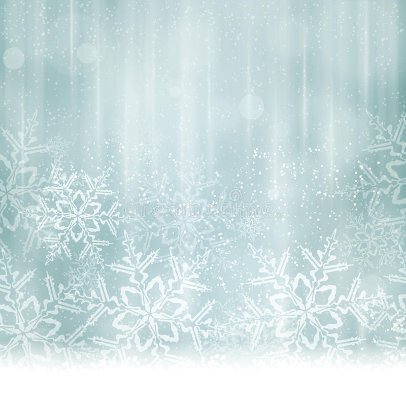 Αφηρημένα ασημένια μπλε Χριστούγεννα, χειμερινό υπόβαθρο απεικόνιση αποθεμάτων