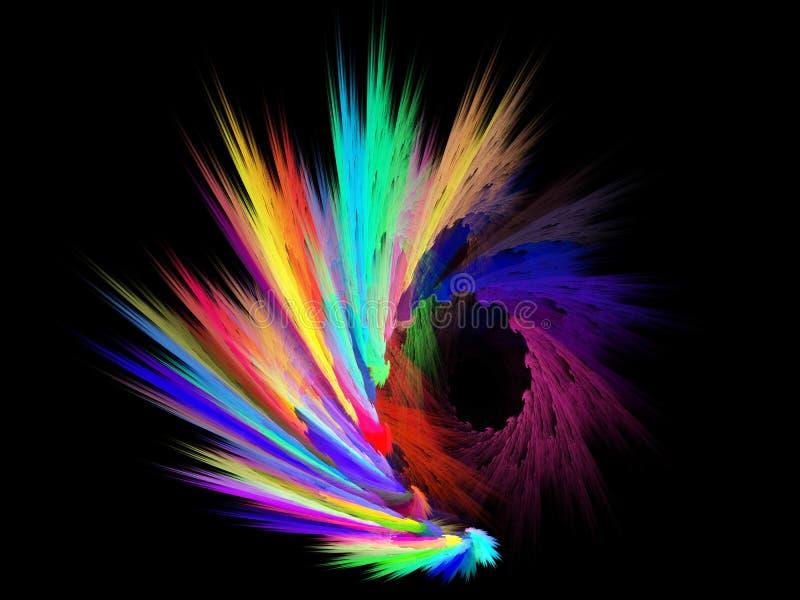 Αφηρημένα βρώμικα ζωηρόχρωμα κτυπήματα του χρώματος στο α απεικόνιση αποθεμάτων