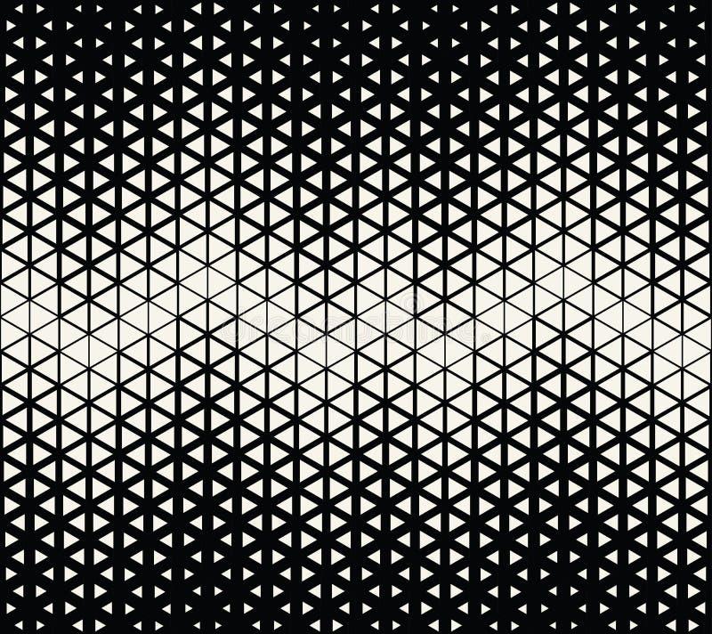 Αφηρημένα γεωμετρικά γραπτά hexagone τέχνης deco ημίτοά και σχέδιο τυπωμένων υλών τριγώνων ελεύθερη απεικόνιση δικαιώματος