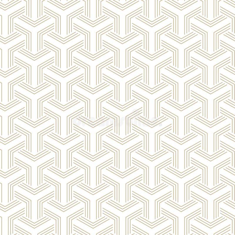 Αφηρημένα γεωμετρικά σχέδια, rhombuses Ένα άνευ ραφής διανυσματικό υπόβαθρο Άσπρη και χρυσή σύσταση ελεύθερη απεικόνιση δικαιώματος