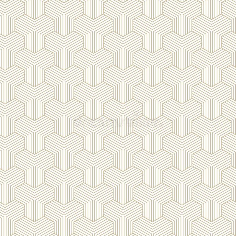 Αφηρημένα γεωμετρικά σχέδια, rhombuses Ένα άνευ ραφής διανυσματικό υπόβαθρο Άσπρη και χρυσή σύσταση απεικόνιση αποθεμάτων