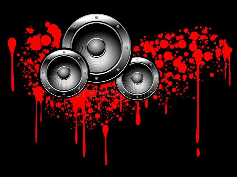 αφηρημένα γκράφιτι μουσικά απεικόνιση αποθεμάτων