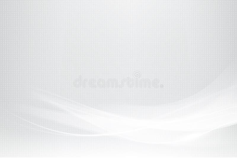 Αφηρημένα γκρίζα καμπύλη κυμάτων σύστασης υποβάθρου και στοιχείο φωτισμού διανυσματική απεικόνιση