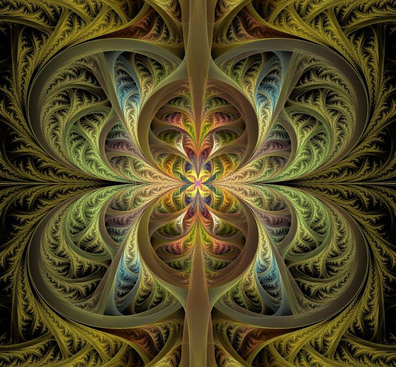 Αφηρημένα γοτθικά φύλλα Fractal patern Όμορφη εικόνα στοκ εικόνα