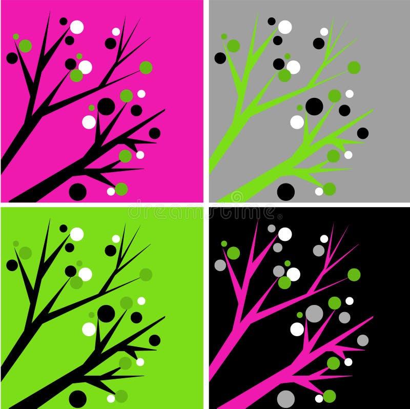 Αφηρημένα δέντρα διανυσματική απεικόνιση