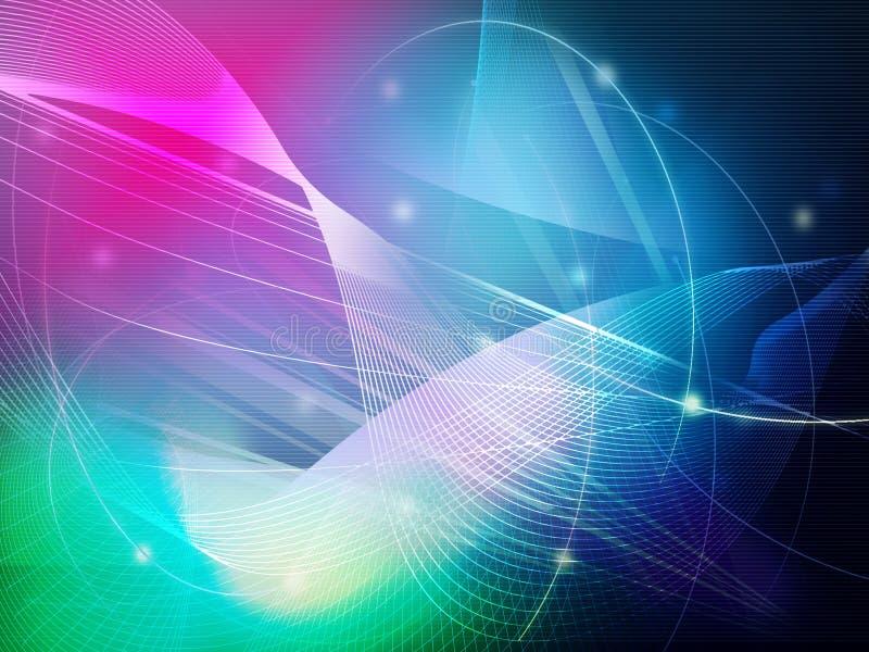 αφηρημένα δροσερά κύματα διανυσματική απεικόνιση