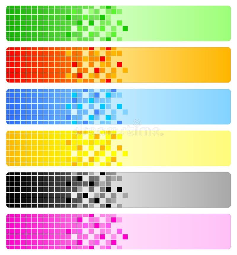 αφηρημένα εικονοκύτταρα έ&xi διανυσματική απεικόνιση