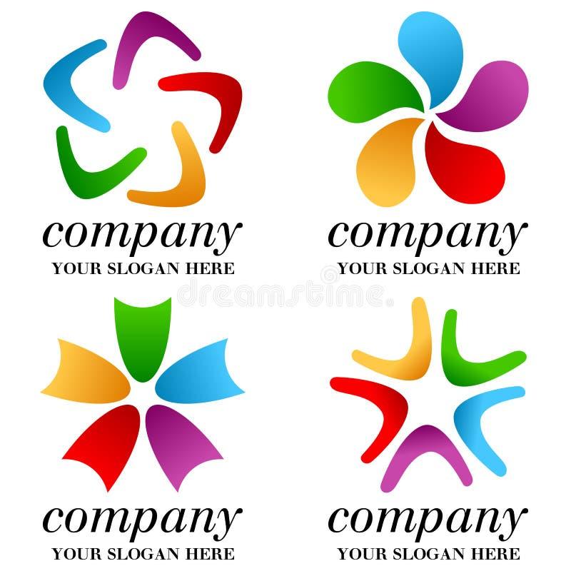 Αφηρημένα επιχειρησιακά λογότυπα καθορισμένα [1] ελεύθερη απεικόνιση δικαιώματος