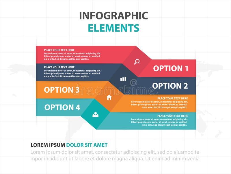 Αφηρημένα ζωηρόχρωμα στοιχεία Infographics επιχειρησιακής υπόδειξης ως προς το χρόνο ετικετών, παρουσίασης διανυσματική απεικόνισ ελεύθερη απεικόνιση δικαιώματος