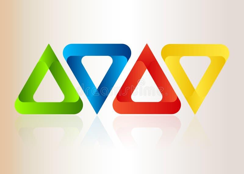 Αφηρημένα ζωηρόχρωμα τρίγωνα διανυσματική απεικόνιση