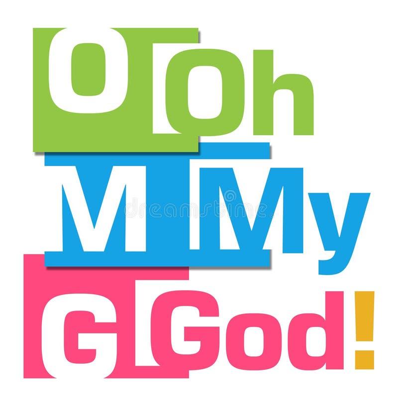 Αφηρημένα ζωηρόχρωμα λωρίδες OMG διανυσματική απεικόνιση