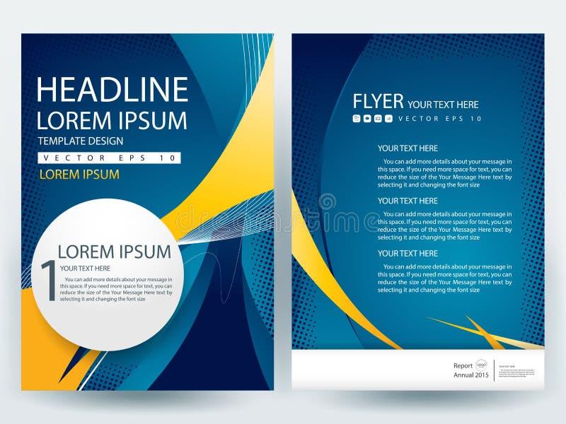 Αφηρημένα διανυσματικά σύγχρονα πρότυπα σχεδίου φυλλάδιων ιπτάμενων ελεύθερη απεικόνιση δικαιώματος