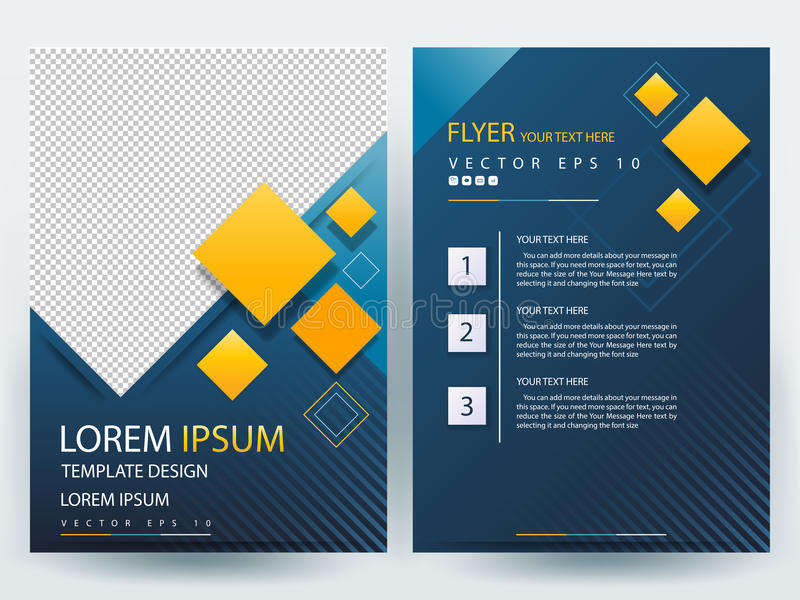 Αφηρημένα διανυσματικά σύγχρονα πρότυπα σχεδίου φυλλάδιων ιπτάμενων διανυσματική απεικόνιση