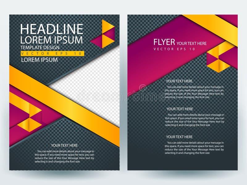 Αφηρημένα διανυσματικά σύγχρονα πρότυπα σχεδίου φυλλάδιων ιπτάμενων στοκ φωτογραφία με δικαίωμα ελεύθερης χρήσης