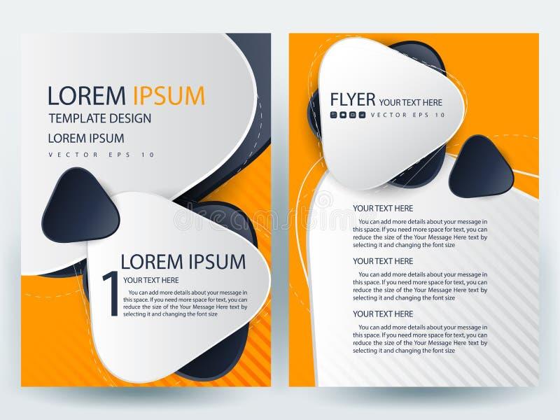 Αφηρημένα διανυσματικά σύγχρονα πρότυπα σχεδίου φυλλάδιων ιπτάμενων απεικόνιση αποθεμάτων