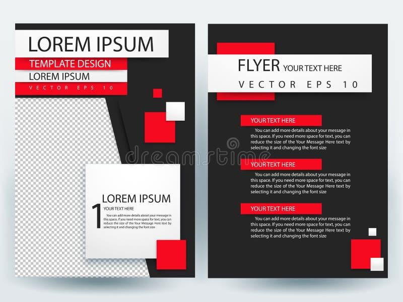 Αφηρημένα διανυσματικά σύγχρονα πρότυπα σχεδίου φυλλάδιων ιπτάμενων στοκ εικόνα με δικαίωμα ελεύθερης χρήσης
