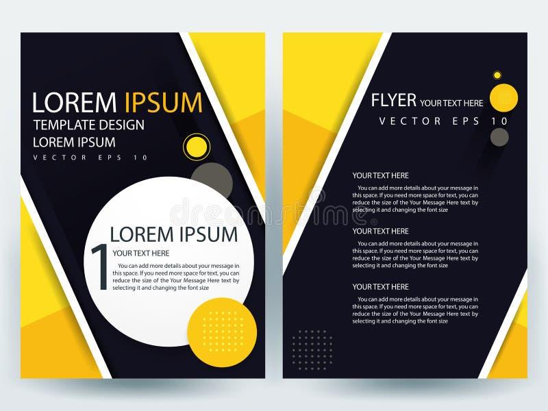 Αφηρημένα διανυσματικά σύγχρονα πρότυπα σχεδίου φυλλάδιων ιπτάμενων στοκ εικόνες με δικαίωμα ελεύθερης χρήσης