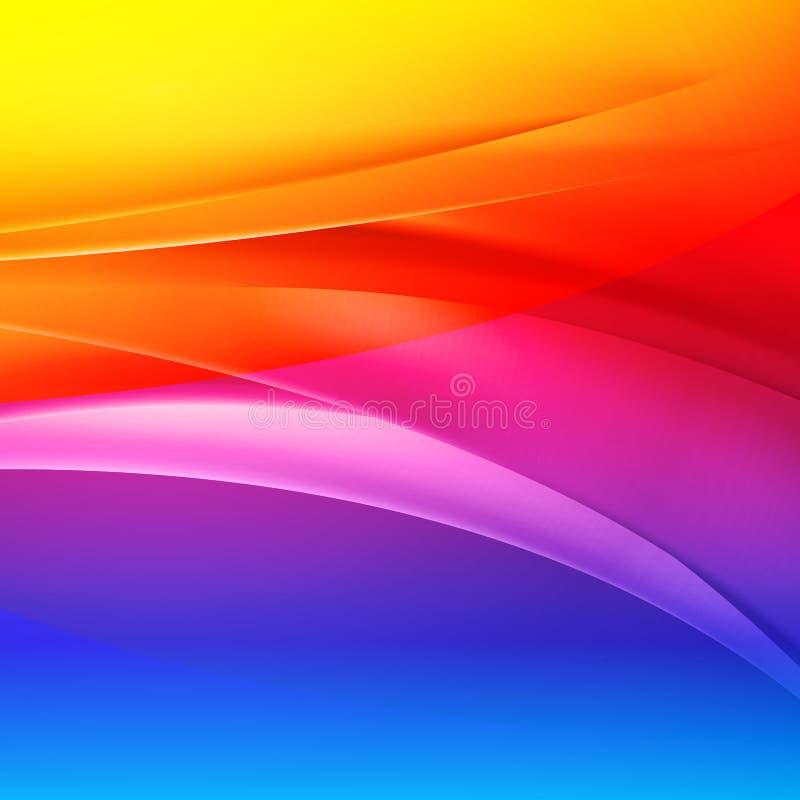 Αφηρημένα διανυσματικά υπόβαθρα ουράνιων τόξων ελεύθερη απεικόνιση δικαιώματος