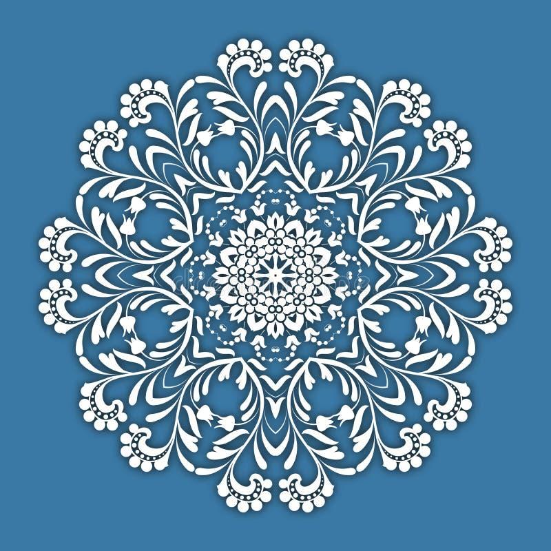 Αφηρημένα διανυσματικά floral διακοσμητικά σύνορα κύκλων ελεύθερη απεικόνιση δικαιώματος