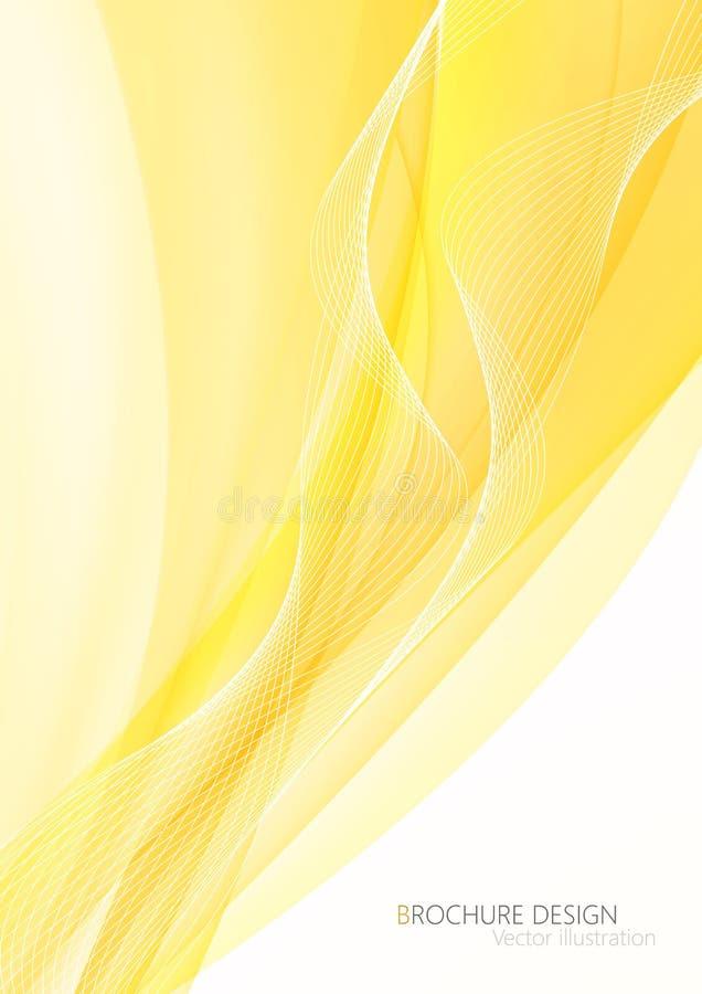 Αφηρημένα κίτρινα κύματα - έννοια ρευμάτων στοιχείων επίσης corel σύρετε το διάνυσμα απεικόνισης ελεύθερη απεικόνιση δικαιώματος