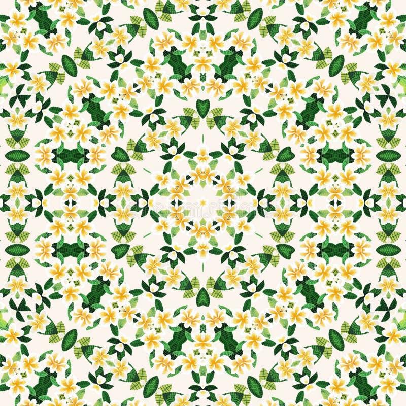 Αφηρημένα κίτρινα λουλούδια προτύπων σχεδίου mandala απεικόνιση αποθεμάτων