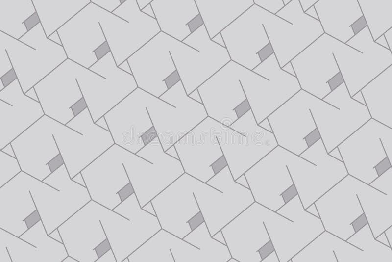 αφηρημένα κιβώτια ανασκόπησης Σύγχρονη τεχνολογία με το τετραγωνικό πλέγμα γεωμετρικές γραμμές Κύτταρο κύβων απεικόνιση αποθεμάτων