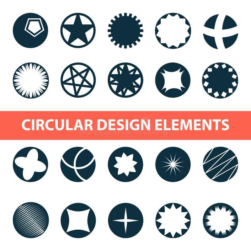 Αφηρημένα κυκλικά στοιχεία σχεδίου Κύκλοι για το σχέδιο λογότυπων και περισσότερους ελεύθερη απεικόνιση δικαιώματος