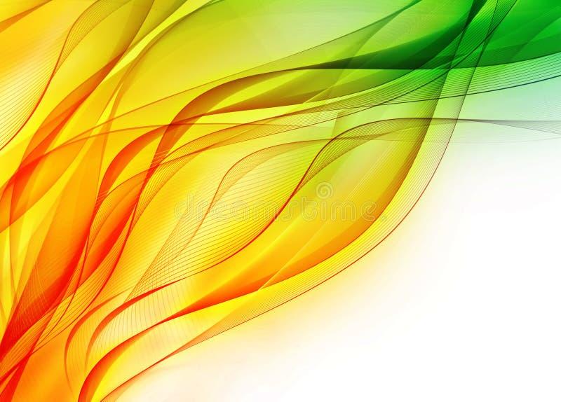 αφηρημένα κύματα χρώματος ελεύθερη απεικόνιση δικαιώματος