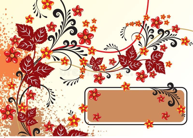 αφηρημένα λουλούδια ανα&si απεικόνιση αποθεμάτων