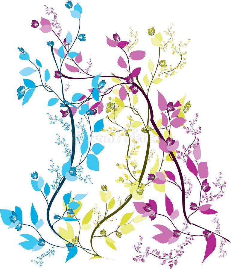 αφηρημένα λουλούδια αρκετά διανυσματική απεικόνιση