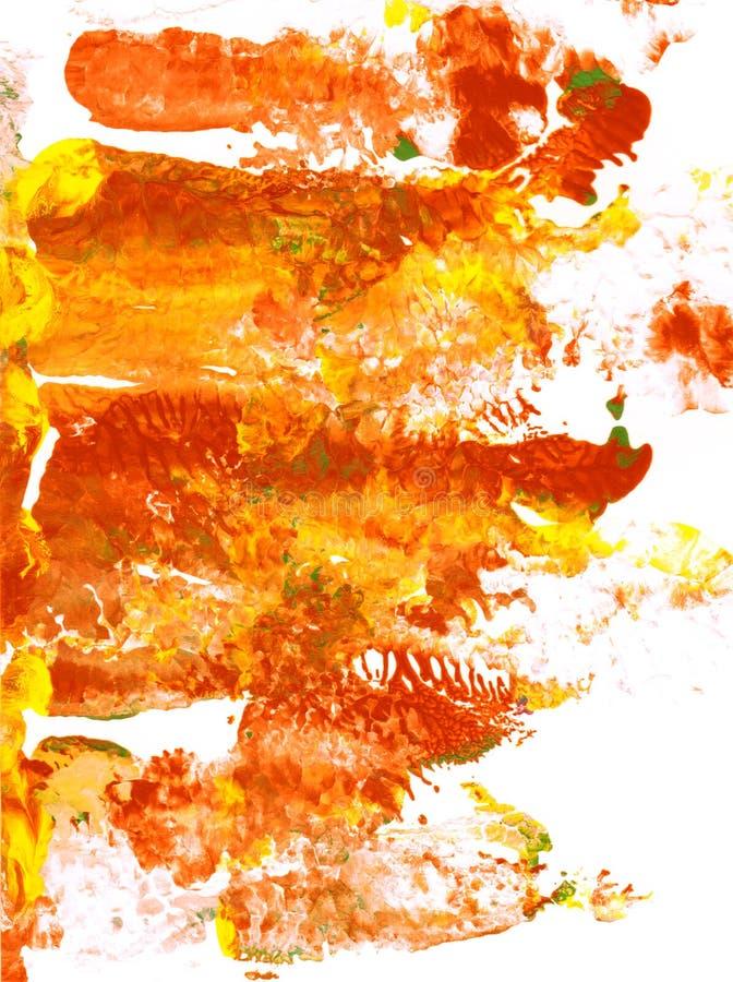 Αφηρημένα μπαλώματα του κόκκινου, πορτοκαλιού και κίτρινου χρώματος απεικόνιση αποθεμάτων
