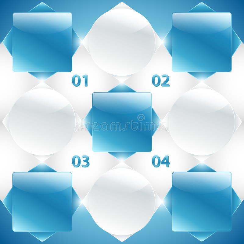 Αφηρημένα μπλε και άσπρα εμβλήματα. Διάνυσμα διανυσματική απεικόνιση