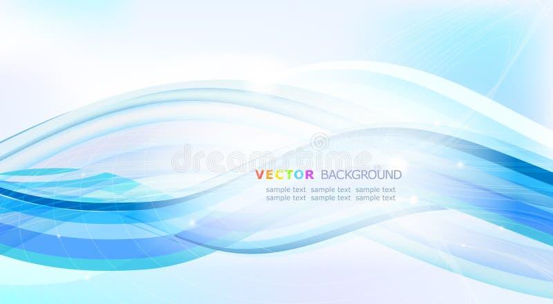 αφηρημένα μπλε κύματα διανυσματική απεικόνιση