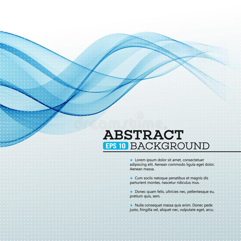 αφηρημένα μπλε κύματα ανασ&ka διάνυσμα ελεύθερη απεικόνιση δικαιώματος